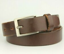 """Wine Dark Brown Very Thick 100% Real Leather Belt Fits 30""""-32"""" Pant size"""