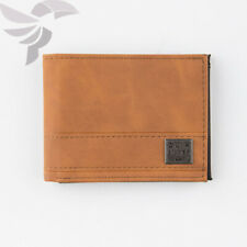 Quiksilver New Stitchy Tri-Fold Brown Tan Wallet