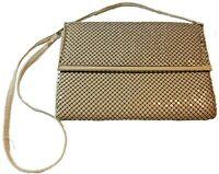 Vintage 1980s WHITING & DAVIS Caramel Mesh Handbag / Clutch