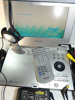 "Toshiba SD-P1880 Portable DVD player 8"" LCD SD Memory Card Slot CD MP3 DiVx R2"