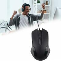 USB Optical Wired Scroll Wheel Mouse Mice For PC Laptop Desktop Notebook K4B9