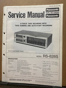 Service Manual for the Panasonic RS-828S 8-Track Tape Player Radio Stereo
