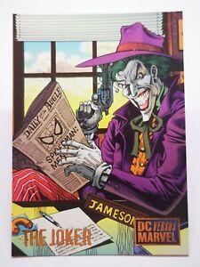 DC Comics 1995 B4 carte card versus marvel legends #45 Villain The Joker