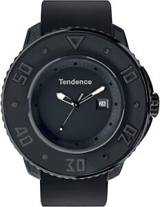 Tendence G-52 Unisex Quartz Watch with Black Dial Analogue Display and Black Pla