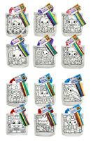 Colour In Canvas Tote Bags - Boy Girls - Childrens Party Bags - Kids Crafts