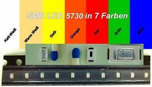 SMD LED 5730 in 7 verschiedenen Farben 1/10/25/50/100 Stück zur Auswahl