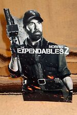 """Expendables 2 Chuck Norris Color Figure Tabletop Display Standee 10.5"""""""