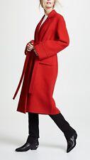 NWOT  HELMUT LANG  $1,295  RED  WOOL BELTED COAT SIZE  S