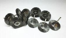 "36pc Steel Wheel Wire Brushes 1 1/2"" Diameter"