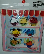 Disney Parks Character Cupcake 7-Pin Booster Pack Set Mickey Minnie Tink & More