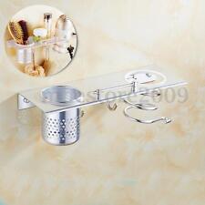 Aluminum Hair Dryer Stand Holder Storage Organizer Rack Wall Mounted Bathroom