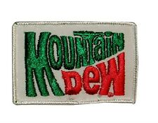 "Soda Fan ""Mountain Dew"" Retro Logo Patch Pop Beverage Apparel Iron-On Applique"