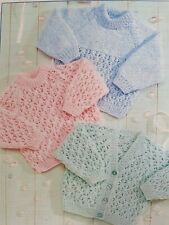 DK PATTERN 16-24inch  cardigan and jumper babies toddler Boy or Girl (282)