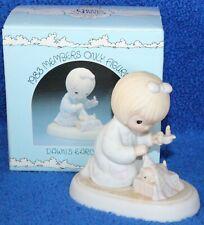 "1983 Enesco's Precious Moments ""Dawn's Early Light"" Ceramic Figurine Fish Mark"