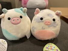 """Squishmallow Flip-a-mallow 5"""" Cow Belana Rosie Pig 5 Inch Kellytoy Easter"""