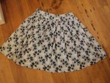 revival vintage print cotton skirt grey blue black floral 12 as bought