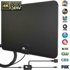 Top Amplified TV Antenna Digital Indoor HDTV High Gain 50 Miles 1080p VHF FM