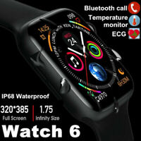 Apple 44mm Smart Watch w26+ Upgrade  ECG Heart Rate Temperature IP68 UK Android