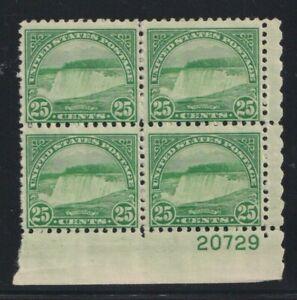 1931 US Scott #699 Twenty-Five Cent Niagara Fall Plate Block of 4 Stamps Mint NH
