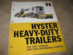 1960's HYSTER HEAVY DUTY TRAILERS SALES BROCHURE