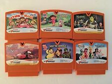Lot of 6 V.Motion games Tinkerbell WonderPets Cars Dora Shrek V.smile vtech