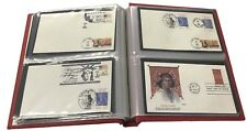 FDC Collection Album Showgard US #6 First Day Covers Binder Flag Red New Free Sh
