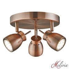 Spot 9W Strahler Kupfer 28cm Deckenlampe Deckenleuchte GU10 Flur Küche Lampe