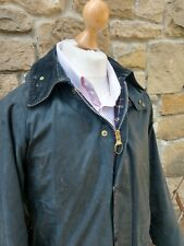 BARBOUR BEAUFORT HOODED WAX Jacket - C36/91CM - Blue- Good Condition - Mens