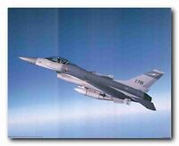 F-16 Falcon George Hall Aviation Wall Decor Art Print Poster (16x20)