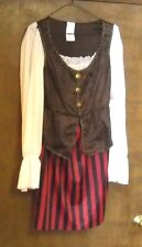 PIRATE LADY HALLOWEEN COSTUME ADULT ONE SIZE FITS MOST GOWN DRESS ONLY