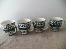 Tienshan Set Of 4 Green Crock Cups MUGS 16 OZ