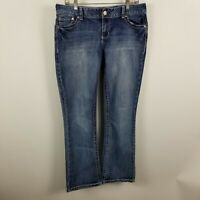 Maurices Boot Cut Womens Dark Wash Blue Jeans Size 11/12 Short