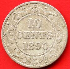 1890 Newfoundland 10 Cent Coin (2.36 Grams .925 Silver)