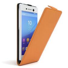 Bolso para Sony Xperia m5 flip case protectora, funda, estuche, Orange