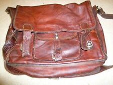 Scaramanga brown leather bag vintage laptop?