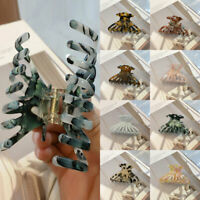 Women Multicolor Barrette Acrylic Hair Clip Acetate Large Hair Claws Accessories