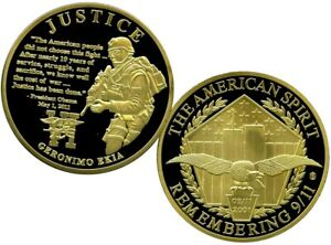 JUSTICE OPERATION GERONIMO COMMEMORATIVE COIN PROOF VALUE $139.95