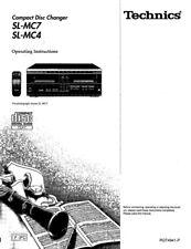 Technics SL-MC4 SL-MC7 CD Changer Owners Instruction Manual Reprint