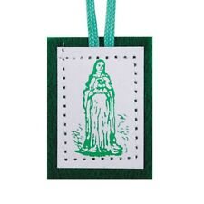 Green Wool Scapular (D1257) NEW 1 3/4 INCH