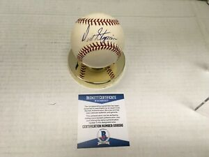 Dick Stigman Signed Selig OML Baseball w/ Beckett COA Twins #B2