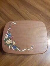 Royce Craft Mother's Day Music Box Basket 2002 Plays Wind Beneath My Wings Flora