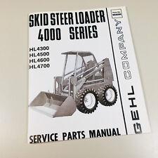 Gehl 4000 Hl4300 Hl4500 Hl4600 Hl4700 Skid Steer Loader Service Parts Manual