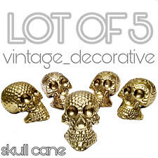 BRASS GRIP/HANDLE FOR WALKING STICK LOT OF 5  HALLOWEEN DESIGN SKULL CANE GIFT