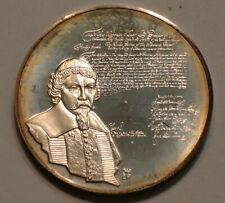 "History of the Jewish People M. BEN ISRAEL Silver Medal 1 & 1/2"" Gem BU"