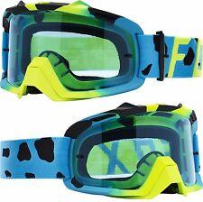 Espacio aéreo Fox Motocross MX Gafas 'Azul Con Tinte Azul Lente Tear-off AIRSPC