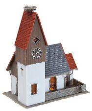 Faller 130236 H0, Dorfkirche mit Storchennest, Bausatz, Epoche II, Neu