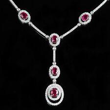 Ruby Diamond Collar 18 CT 2.38 CT Diamante 3.25 CT Rubí