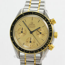 Omega Vintage Speedmaster 175.0032 1140 Automatic Champagne Dial Steel 18K Gold
