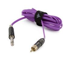 Polarized Silicone Wire Purple RCA Cord (8 ft.)