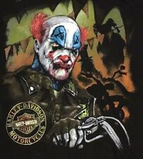 Harley Davidson Scary Clown Black Shirt Nwt Men's Medium